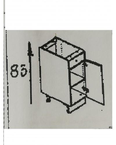 Spodnji element 1xpredal 1x vrata 45