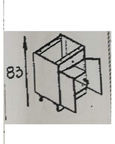 Spodnji element 1xpredal 2x vrata 80