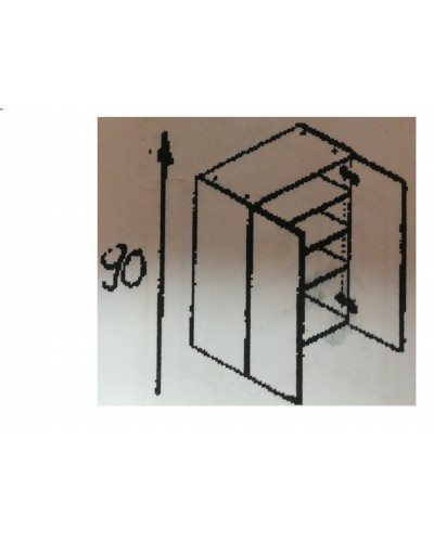 Zgornji element 2x vrata 75