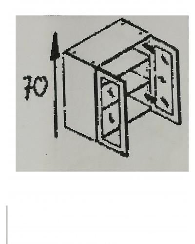 Zgornji element 2x steklo 70 MANJŠI