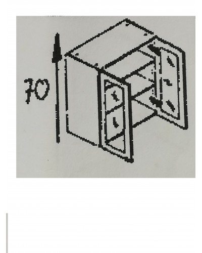 Zgornji element 2x steklo 90 MANJŠI