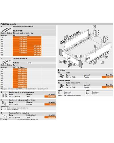 Notranji predal Antaro-K 115,6mm SKICA