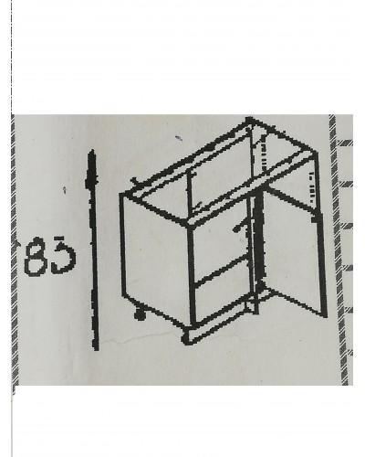 Spodnji kotni element 90